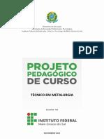 Projeto Pedagogico Do Curso Tecnico Em Metalurgia Corumba