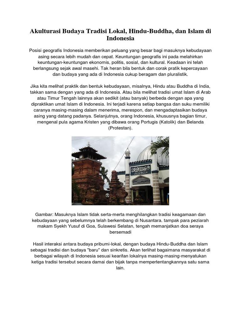 Akulturasi Budaya Hindu Budha Dan Islam