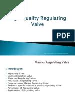 Maniks High Quality Regulating Valve