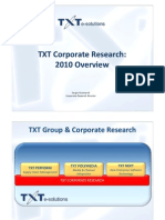 TXT Corporate Research 2010