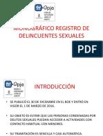 Monografico Registro de Delincuentes Sexuales