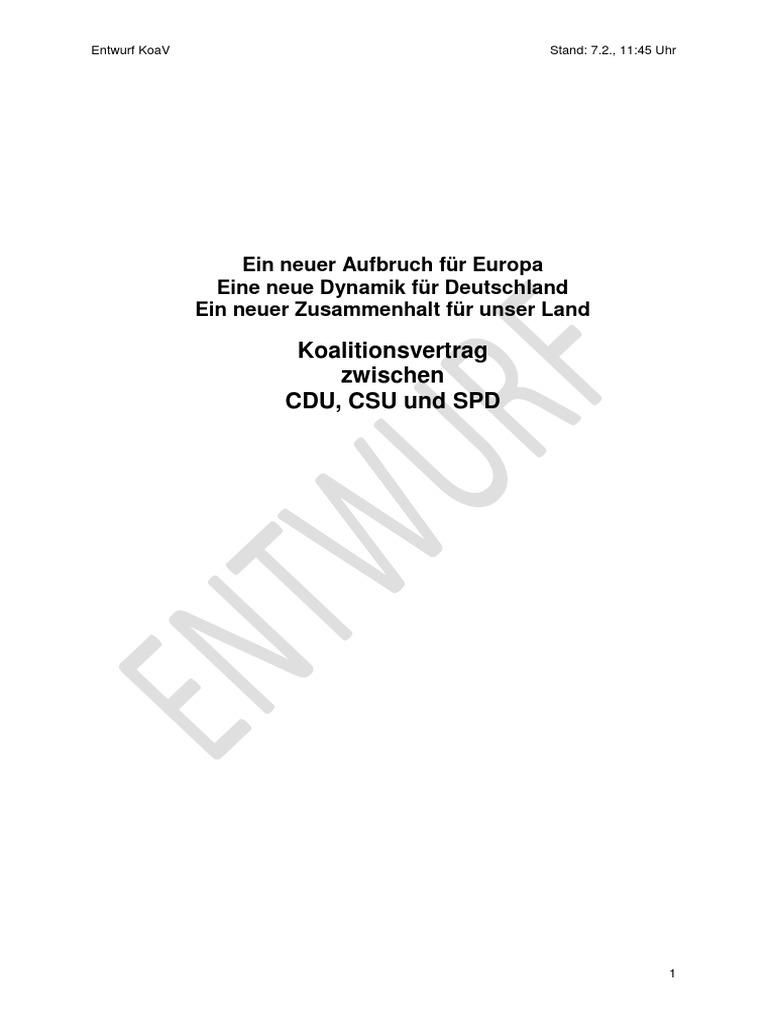 Germany -- GroKo coalition draft agreement [7/2/2018]
