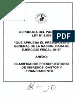 Ministerio de Hacienda Clasificador Presupuestario