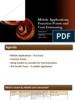 IT 6 Presentation Mobile Applications Functional Analysis and Cost Estimation