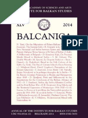 Balcanica 2014pdf Serbia Balkans