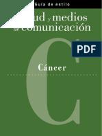 Guia Estilo Medios Comunicacion Sobre Cancer