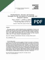1996 David; Rothwell -- Standardization, Diversity and Learning- Strategies