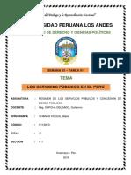 Los Servicios Públicos en El Perú