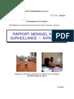 CODEV TR03 Rapport Mensuel de Suivi Avril 2011 N 001