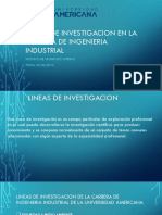 Lineas de Investigacion en La Carrera de Ingenieria Industrial