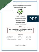 PFE GPL Raffinerie d'Adrar