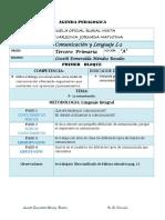 Agenda Pedagogica Lenguaje