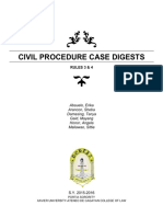Civil Procedure Case Digests (Rules 3 & 4)