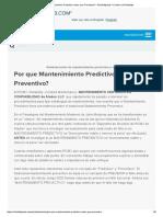 Por Que Mantenimiento Predictivo Antes Que Preventivo? - Reliability a Culture of Reliability