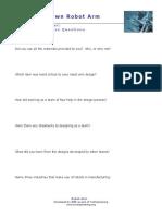 Robotarm Worksheet