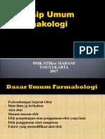 Prinsip Umum Farmakologi Dasar