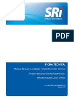 Ficha Tecnica Comprobantes Electrónicos Esquema Offline Versión 2 10 01122017