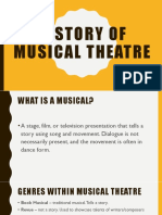 history of musical theatre