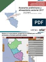 1. Presentación Escenarios Preliminares y Alineamiento Sectorial 2017 16.11.16