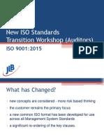 ISO 9001-2015 Transition Workshop (Auditors)