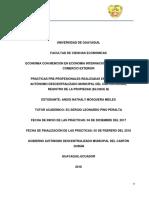 Instructivo de Memoria Tecnica de Pasantias o Practicas Pre-profesionales
