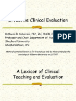 Effective Clinical Evaluation