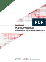 Evaluación de las Iniciativas de Desarrollo Regional (IDR) Microrregión Crespo y Aldeas Aledañas