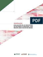 Evaluación de las Iniciativas de Desarrollo Regional (IDR) de la Línea Sur