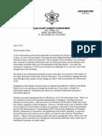 Law Enforcement Letter of Support