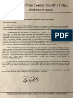 Kaufman County letter to Forney parents