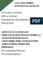 Articulo 3 Las Costumbres Mercantiles Suplen El Silencio de La Ley
