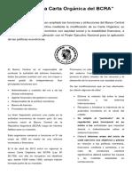 El Cambio en La Carta Orgánica Del BCRA