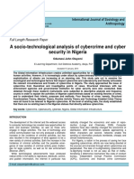 Olayemi - 2014 - International Journal of Sociology and Anthropology A socio-technological analysis of cybercrime and cyber security in.pdf