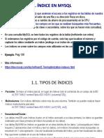 1 Indices en MySQL