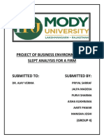Project of Business Environment on Slept Analysis for a Firm