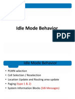 1. Idle Mode Behavior 3G