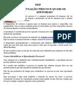 DEP - PDF | Ejaculação Precoce Quais os Sintomas?