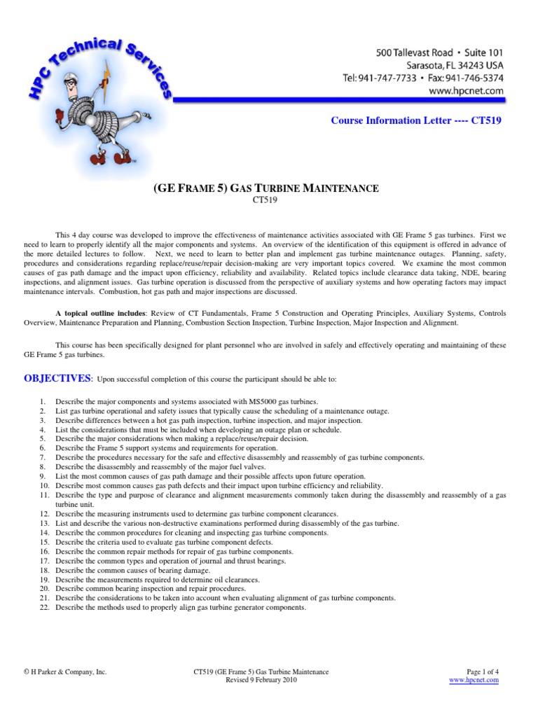 GE Frame 5 Gas Turbine Maintenance | Gas Turbine | Power Station