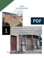 Caracterizacion Del Sistema Constructivo de Vivienda Informal en Bogota