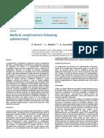 Buzzel 2016 Complicaciones Med Post Esplenecomia
