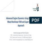 Advanced Engine Dynamics Using MBS and a Mixed Nonlinear FEM and Super Element Approach