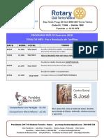 Programa Mês de Fevereiro 2018