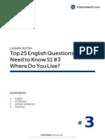 03 Where Do You Live