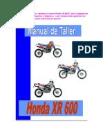 Honda XR 600 Manual de Taller