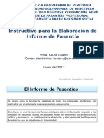 Instructivo Informe Pasantia