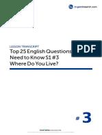 03 Where Do You Live - Script