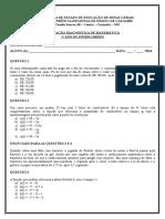 Avaliação Diagnóstica 1º Ano EM 2014