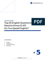 05 Do You Speak English