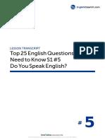 05 Do You Speak English - Script