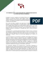 SoyVenezuela ante las declaraciones del Gobierno Ruso en apoyo a la farsa electoral en Venezuela